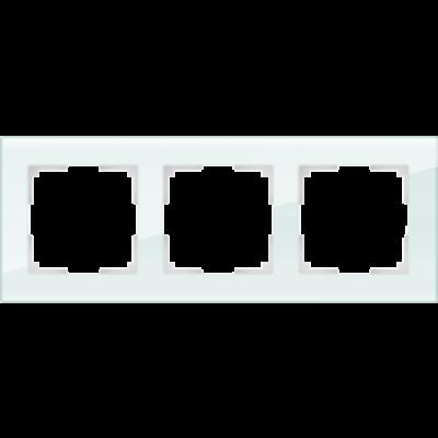 Рамка на 3 пост бел.стекло WERKEL Favorit