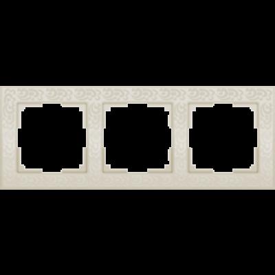 Рамка на 3 пост слонов.кость WERKEL WL-05-Frame-03-ivory