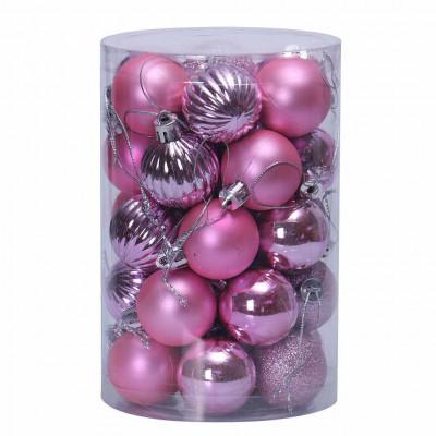 Набор елочных украшений Т560 Фиолетовый Шары 4см*16шт, 6см*20шт