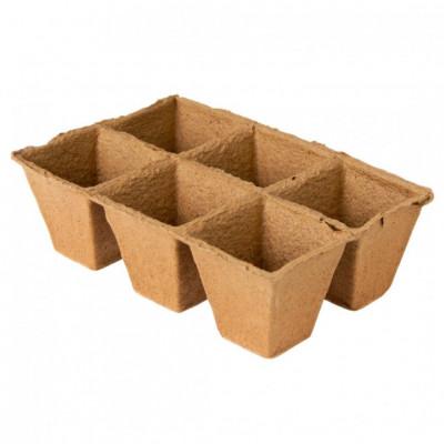 Набор торфяных горшочков 18шт, 9 x h9см, квадратные