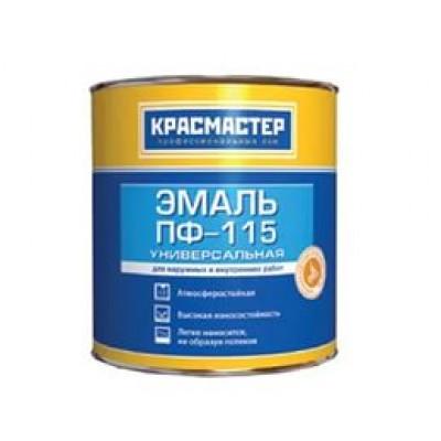Эмаль ПФ-115 Красмастер красная 0,9кг.