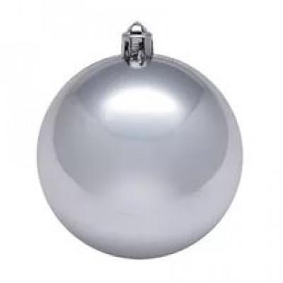 Шар Т174-1 8см (глянцевые)серебро