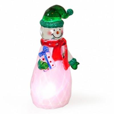 """USB Новогодний сувенир - """"Снеговичок зеленый колпачек"""""""
