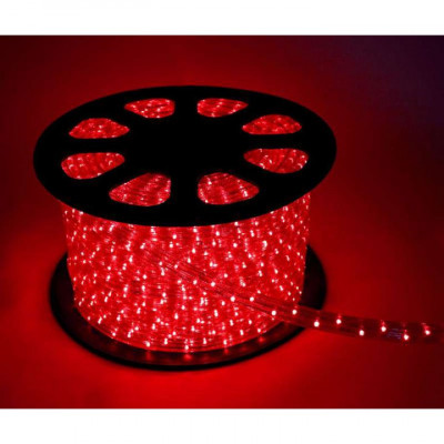 Дюралайт красный свечение с динамикой 3W 220В 1.6Вт/м d1Змм IP44 Космос KOC-DL-3W13-R