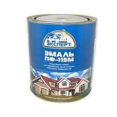 Эмаль ПФ-115М салатовая глянц. 0,8кг Эксперт