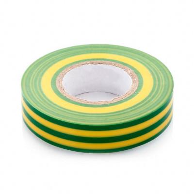 Изолента 15м х 10м ПВХ жёлто-зеленая ЭРА
