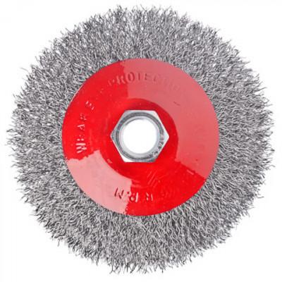 Щетка металлическая для УШМ Ваяряг 100мм/М14, (тарелка)