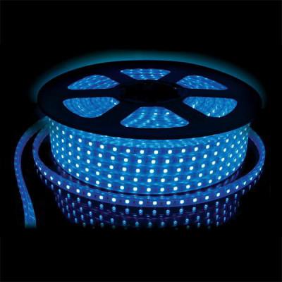 Лента светодиодная 220V 7,2W 30Led 5050 IP65 синий