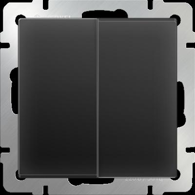 Выключатель 2 клавиш.черн/матовая WERKEL