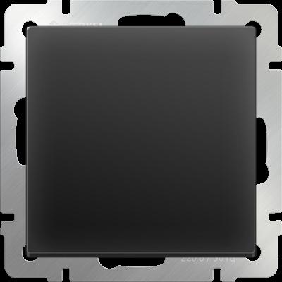 Выключатель 1 клавиш.черн/матовая WERKEL