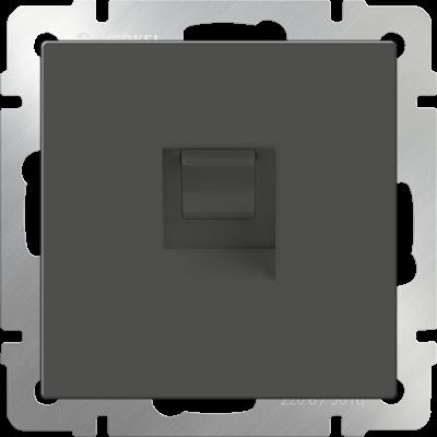 Розетка телефон.RJ-11 серо-коричнев. WERKEL
