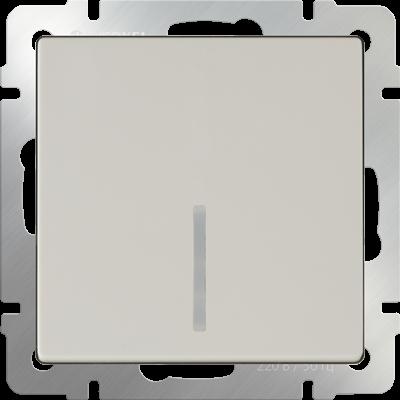 Выключатель 1 клавиш.слонов.кость с подсветкой WERKEL