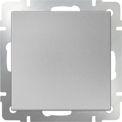 Выключатель 1 клавиш. серебро WERKEL