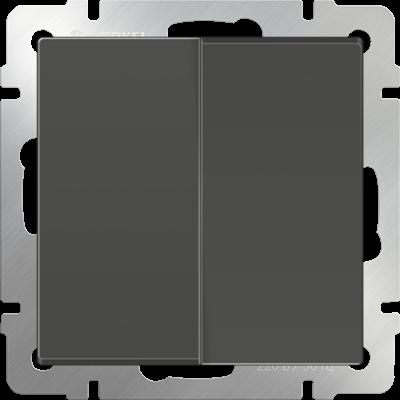 Выключатель 2 клавиш. серо-коричнев. WERKEL
