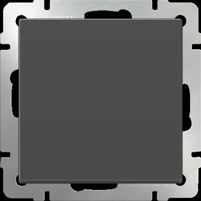 Выключатель 1 клавиш. серо-коричнев. WERKEL