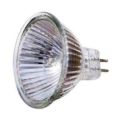 Лампа галогенная СВЕТОЗАР с защитным стеклом, алюм. отражатель, цоколь GU5.3, диаметр 51мм, 20Вт, 12