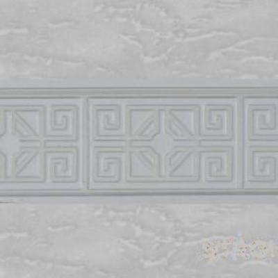 """Карниз """"Олимп"""" 3-х рядный с поворотами 2,4 м мрамор хром"""