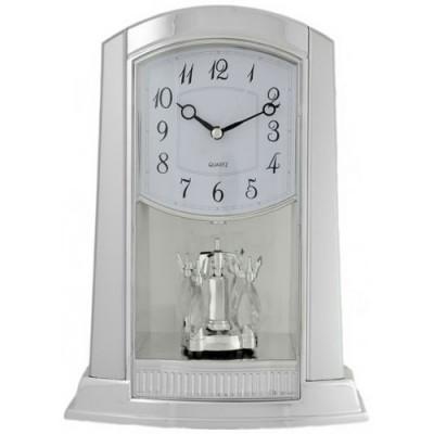 Часы настольные La Minor 902 silver с маятником