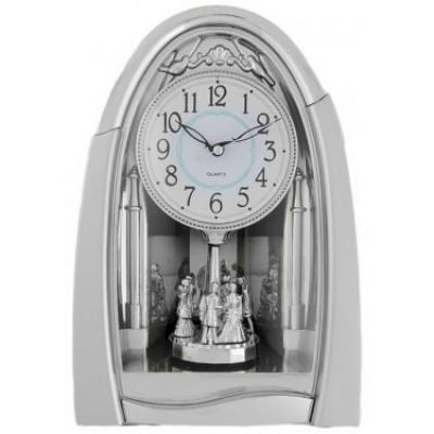 Часы настольные La Minor 911 silver с маятником