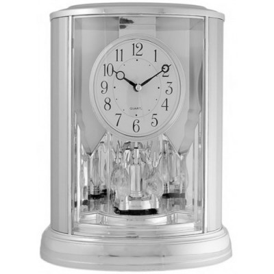 Часы настольные La Minor 913 silver с маятником