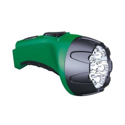 Фонарь Рекорд РМ-0107 7*LED Green Акку прямая подзарядка