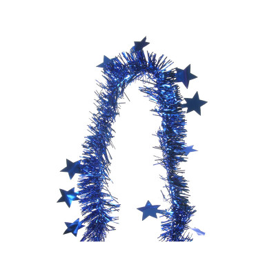 """Мишура YT15-18D синий """"Звезды"""" 2м d-6/11см"""