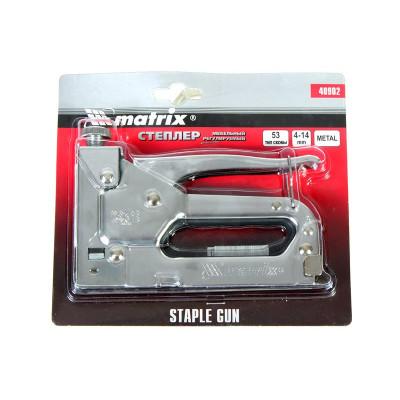 Степлер мебельный регулируемый, тип скобы 53, 4-14 мм MATRIX MASTER