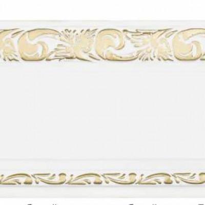 Витраж карниз 3-х рядный 2,0 м, белый глянец золото