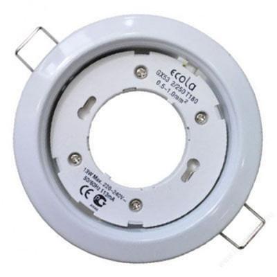 Светильник Ecola GX53/белый H4 38*106