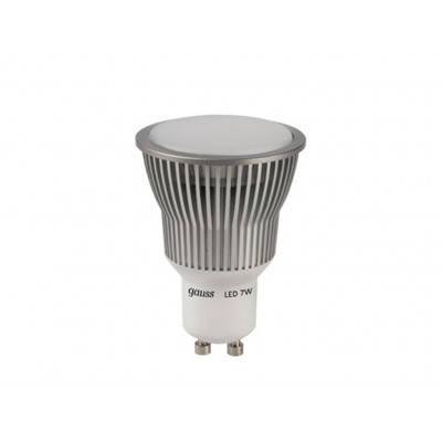 Лампа  Led  7W MR16 4100K GU 5.3 AC220-240V GAUSS SMD диммируемая