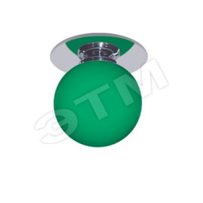 Светильник 1531 шар мал.хром зеленый Feron
