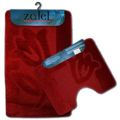 Набор ковриков для ванны 2шт ZALEL 55*90 бордовый