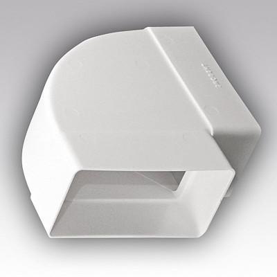 Колено горизонтальное угол 90 60х120 ПВХ 612КГП