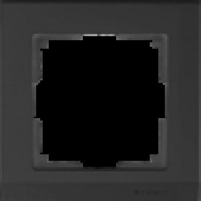 Рамка на 1 пост черн. WERKEL STARK