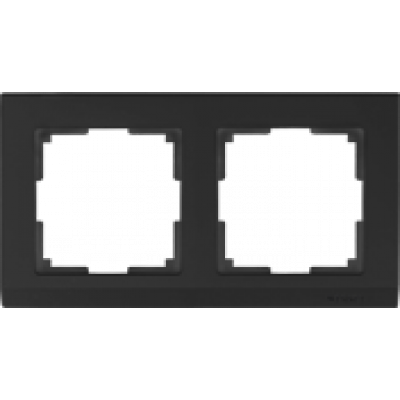 Рамка на 2 пост черн. WERKEL