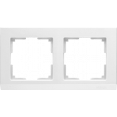 Рамка на 2 пост бел. WERKEL Stark