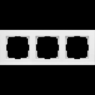 Рамка на 3 пост бел. WERKEL Stark