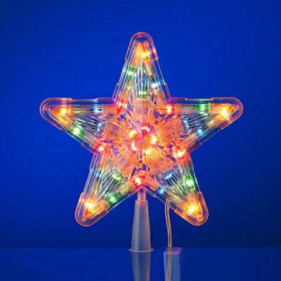 Гирлянда макушка S-2C звезда ЦВЕТН 30л 25см