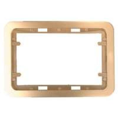 Панель 1 для дв. розеток золот. метал. ГАММА