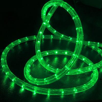 Шнур светодиодный Дюралайт 6м 3 проводной с контроллером зелен Космос