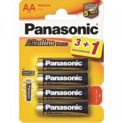 Элемент питания Panasonic LR6 Alkaline BL4 (Angry Bids)