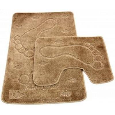Набор ковриков для ванны 2шт ZALEL 60х100 бежевый