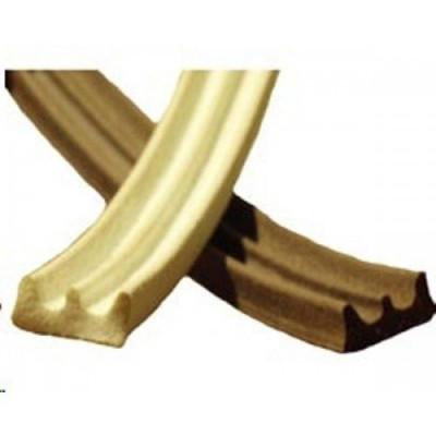 Уплотнитель резиновый профиль Е белый, коричневый