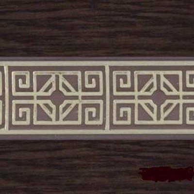 """Карниз """"Олимп"""" 3-х рядный с поворотами 2,4 м  венге золото"""