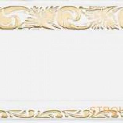Витраж карниз 3-х рядный 3,6 м, белый глянец золото