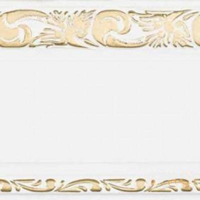 """Карниз """"Олимп"""" 3-х рядный с поворотами 2,4 м белый глянец золото"""