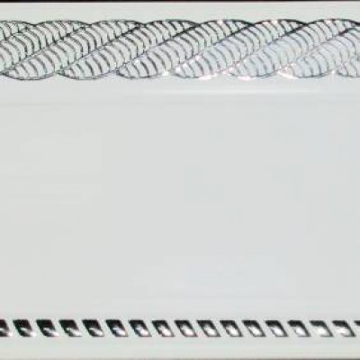 Карниз Византия 2 м белый глянец хром