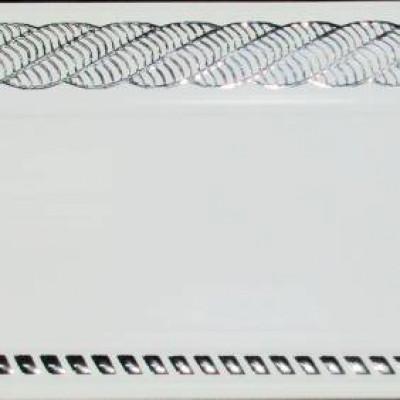 Карниз Византия 2,4 м белый глянец хром