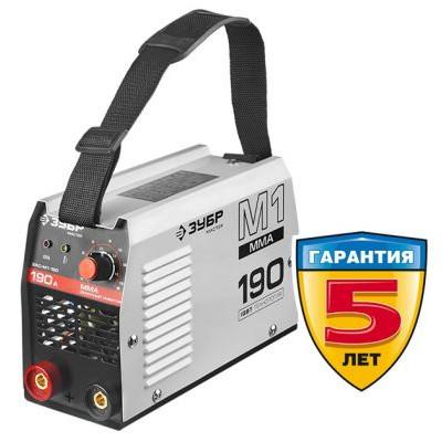 Инвертор сварочный, ЗУБР ЗАС-М1-190, 190А, MMA, IGBT, ПВ 30%,